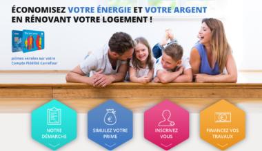 prime éco énergie Carrefour pour financer les travaux de rénovation énergétique